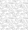 Hand drawn seamless pattern with foliage of rose vector image