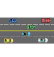 highway and moving cars vector image