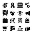 marketing icon set vector image
