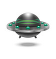 realistic detailed 3d ufo flying spaceship vector image