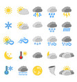 set of 25 weather icon weather label for web on vector image