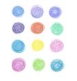 set of hand-drawn circles vector image