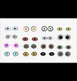 set of monster eyes vector image