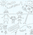 summerblackwhite vector image