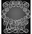 wedding pattern frame vector image