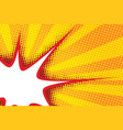 Sharp bubble comic cloud in pop art yellow vector image