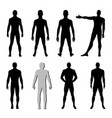 fashion man figure set vector image vector image