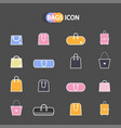set of simple icons bags vector image
