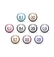 Circles with Numbers vector image vector image
