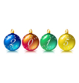 Christmas ball 2015 vector image vector image