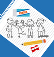 students drawn vector image