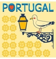 Concept card with tipical portuguese lantern and vector image vector image