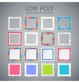 Low Poly Square Banners Set vector image vector image