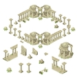 Ruins of the city in ancient Greek style vector image
