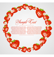 abstract frame with strawberry fruits vector image