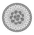 beautiful deco black mandala patterned design vector image