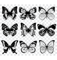 butterflies isolated on transparent vector image