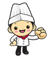 cartoon cook character go for it isolated on vector image