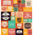 Collection of vintage retro labels badges stamps vector image