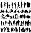 family silhouettes vector image