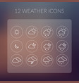 weather simple icons set vector image