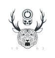 emblem of designer vector image vector image