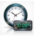 Wall clocks and electronic vector image