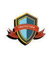 colorful shield vector image
