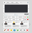 White web design elements set vector image