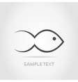 Fish a silhouette vector image