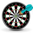 dartboard with dart vector image