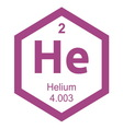 Periodic table helium vector image
