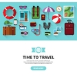Time to travel Flat design banner vector image