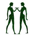 numbers women vector image