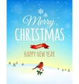 Christmas greeting card poster vector image vector image
