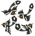 bird cartoon design vector image