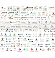 Company logo mega collection Various universal vector image
