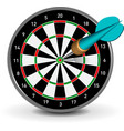 dartboard with dart vector image
