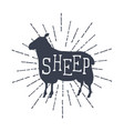 farm animals icons silhouette of sheep vector image