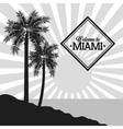 Palm tree icon Miami florida design vector image