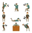 Photographer Characters Isolated Icon Set vector image