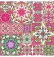Seamless patchwork background Oriental ornament vector image