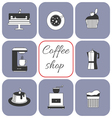 Set of coffee items vector image