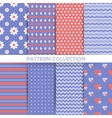 Set of seamless patterns in retro style vector image