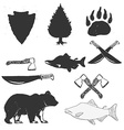 wild forest hand drawn labels set vector image