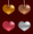 Collection heart on metal vector image vector image