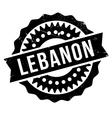 Lebanon stamp rubber grunge vector image