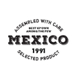 Assembled in Mexico rubber stamp vector image