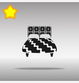 bed black icon button logo symbol concept vector image