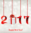 2017 New Years background with gift vector image
